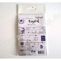 SWIRLCARDS CRYSTAL 17 TAGS BLUE LIFE