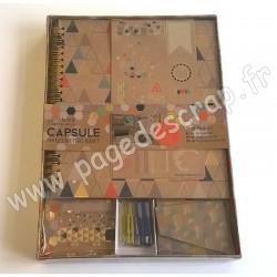 DOCRAFTS SCRAP BOOK SET CAPSULE GEOMETRIC KRAFT