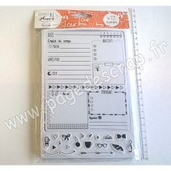 ALADINE TAMPON STAMPO PLANNER PAGE JOUR