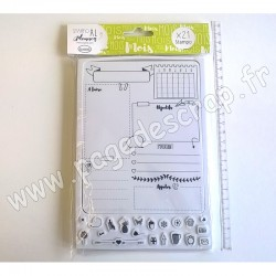 ALADINE TAMPON STAMPO PLANNER PAGE MOIS