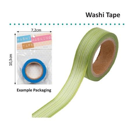 WASHI TAPE GREEN HORIZONTAL STRIPE