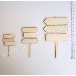 PDS SUJET BOIS FIN 1 mm KIT PANNEAUX A MONTER ( 3 PANNEAUX )