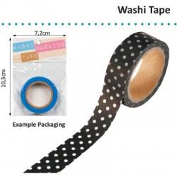 WASHI TAPE 15MMX8M BLACK