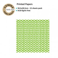 CANVAS CORP PRINTED LIME GREEN WHITE DOT