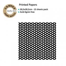 CANVAS CORP PRINTED PAPER BLACK WHITE DOT