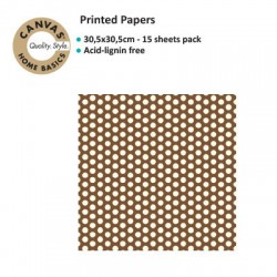 CANVAS CORP PRINTED PAPER CHOCOLATE IVORY DOT