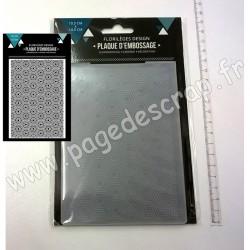 FLORILEGES DESIGN PLAQUE D'EMBOSSAGE HEXAGONES IMBRIQUES 10.5 cm x 14.5 cm