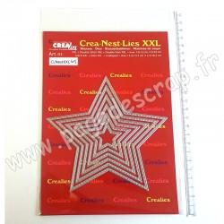CREALIES DIES CREA NEST LIES DIES N°45  XXL STARS WITH STITCHLINE