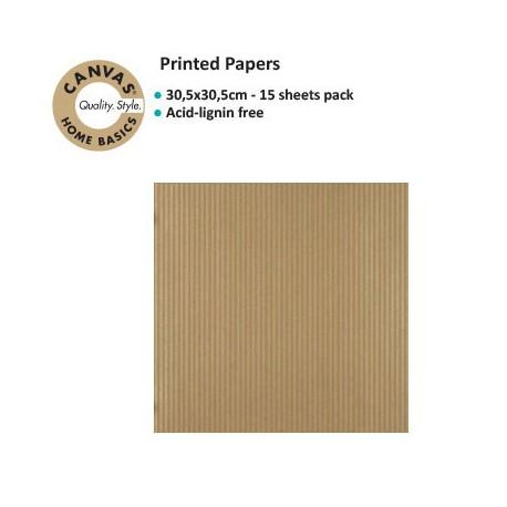 CANVAS CORP PRINTED PAPER GOLD KRAFT RIBBON