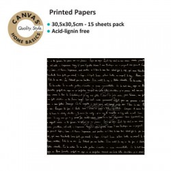 CANVAS CORP PRINTED PAPER BLACK IVORY SONNET