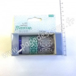 DOCRAFTS PAPERMANIA CRAFT TAPE CAPSULE MOROCCAN BLUE 4 x 5m