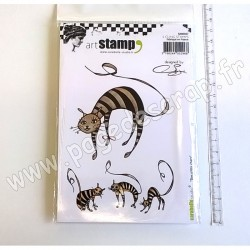 CARABELLE STUDIO CLING STAMP A6  DES P'TITS CHATS