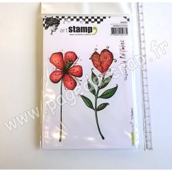 CARABELLE STUDIO CLING STAMP A6 2 FLOWERS