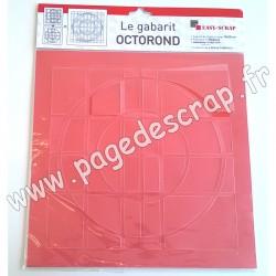 EASY SCRAP GABARIT OCTOROND  2 pièces