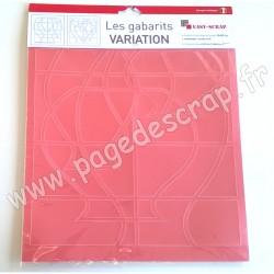EASY SCRAP GABARIT VARIATION  2 pièces