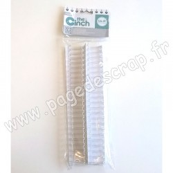 WE R MEMORY KEEPERS THE CINCH FILS POUR RELIURES 2,5 cm 30,5 cm BLANC x2