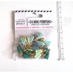 FLORILEGES DESIGN 24  MINI POMPONS SOFT & GREEN