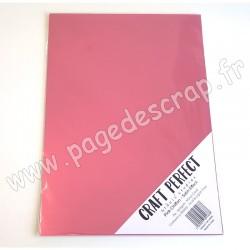 TONIC STUDIOS CRAFT PERFECT MIRROR CARD SATIN A4 x5 250g PINK CHIFFON