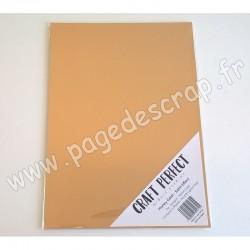 TONIC STUDIOS CRAFT PERFECT MIRROR CARD SATIN A4 x5 250g HONEY GOLD