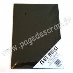 TONIC STUDIOS CRAFT PERFECT MIRROR CARD SATIN A4 x5 250g BLACK VELVET