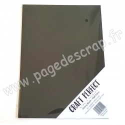 TONIC STUDIOS CRAFT PERFECT MIRROR CARD GLOSSY A4 x5 250g GLOSSY BLACK
