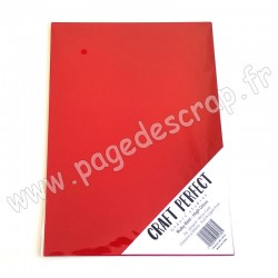 TONIC STUDIOS CRAFT PERFECT MIRROR CARD GLOSSY A4 x5 250g RUBY RED