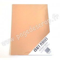 TONIC STUDIOS CRAFT PERFECT MIRROR CARD GLOSSY A4 x5 250g ROSE PLATINUM