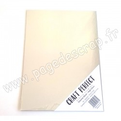 TONIC STUDIOS CRAFT PERFECT MIRROR CARD GLOSSY A4 x5 250g CHROME SILVER