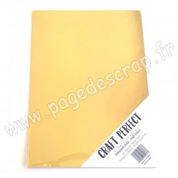 TONIC STUDIOS CRAFT PERFECT MIRROR CARD GLOSSY A4 x5 250g POLISHED GOLD