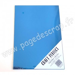 TONIC STUDIOS CRAFT PERFECT MIRROR CARD GLOSSY A4 x5 250g IMPERIAL BLUE