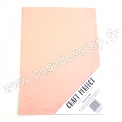 TONIC STUDIOS CRAFT PERFECT PEARLESCENT CARD A4 x5 250g BLUSHING PINK