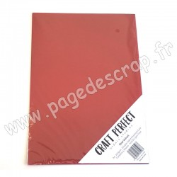 TONIC STUDIOS CRAFT PERFECT PEARLESCENT CARD A4 x5 250g RED VELVET