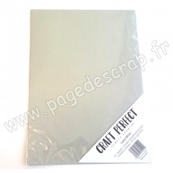 TONIC STUDIOS CRAFT PERFECT PEARLESCENT CARD A4 x5 250g LUNA SILVER
