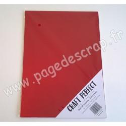 TONIC STUDIOS CRAFT PERFECT MIRROR CARD SATIN A4 x5 250g SCARLET ORGANZA