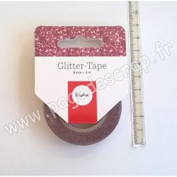 RAYHER GLITTER TAPE ROSE 8 mm x 5 m