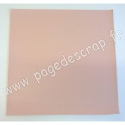 ARTEMIO FEUILLE SIMILI CUIR 30 cm x 30 cm 0,7 mm LOVELY SWAN ROSE CLAIR