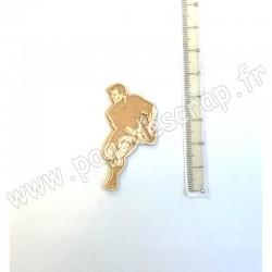 PDS SUJET BOIS FIN 1mm  JOUEUR DE RUGBY COLLECTION SPORT