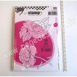 CARABELLE STUDIO TAMPON A6  STOP AND SMELL THE FLOWERS BY SULTANE
