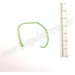 CHAÎNETTE BOULE VERT CLAIR 1,5 cm