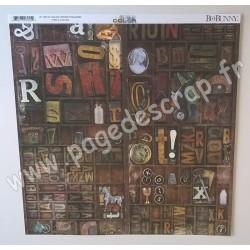 BO BUNNY COLLECTION LIFE IN COLOR HIDDEN TREASURES 30.5 cm x 30.5 cm