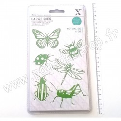 XCUT LARGE DIES INSECTS 6 pièces