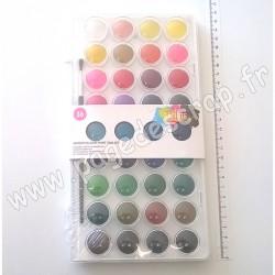 ARTISTE - WATERCOLOUR PAINT PAN SET x36 (Boîte d'aquarelles x36 couleurs)