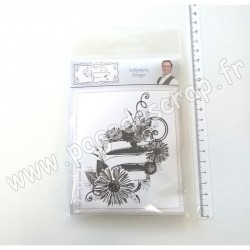 CREATIVE EXPRESSIONS SENTIMENTALLY YOURS BOHEMIAN RUBBER STAMP BANNER A6