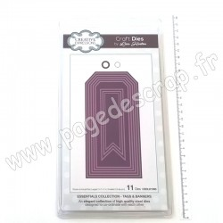 CREATIVE EXPRESSIONS DIES STITCHED TAGS & BANNERS