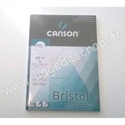 CANSON BRISTOL PAPIER EXTRA BLANC TRÈS ÉPAIS A4 x20 feuilles
