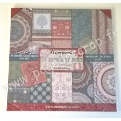 STAMPERIA 26 SECRETS OF INDIA 10 feuilles R/V 30.5 cm x 30.5 cm 190 gr