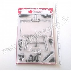 CREATIVE EXPRESSIONS TAMPON CLEAR WOODWARE ART