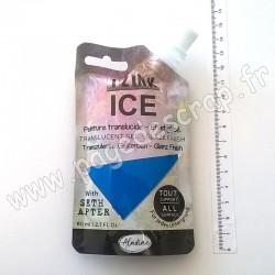 IZINK ICE PEINTURE TRANSLUCIDE EFFET GLACÉ 80 ml BLEU MER DU SUD