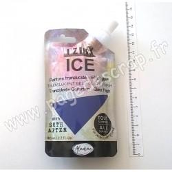 IZINK ICE PEINTURE TRANSLUCIDE EFFET GLACÉ 80 ml VIOLET CASSIS