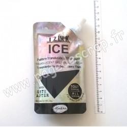 IZINK ICE PEINTURE TRANSLUCIDE EFFET GLACÉ 80 ml NOIR RÉGLISSE